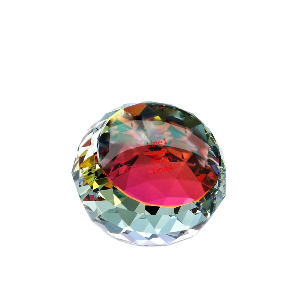 View larger image of Vibrant Luminary Crystal Collection - Round Paperweight