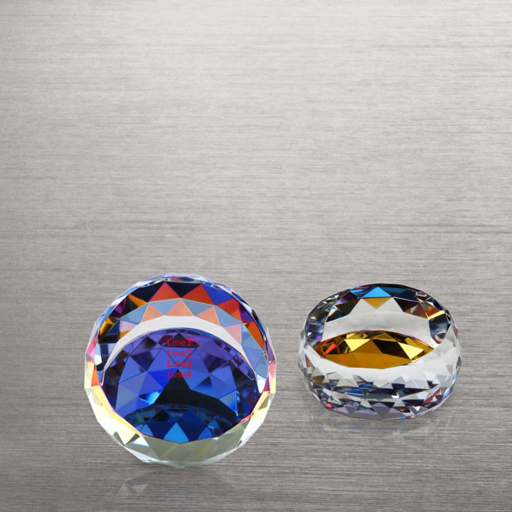 View larger image of Vibrant Luminary Crystal Collection -Small Round Paperweight