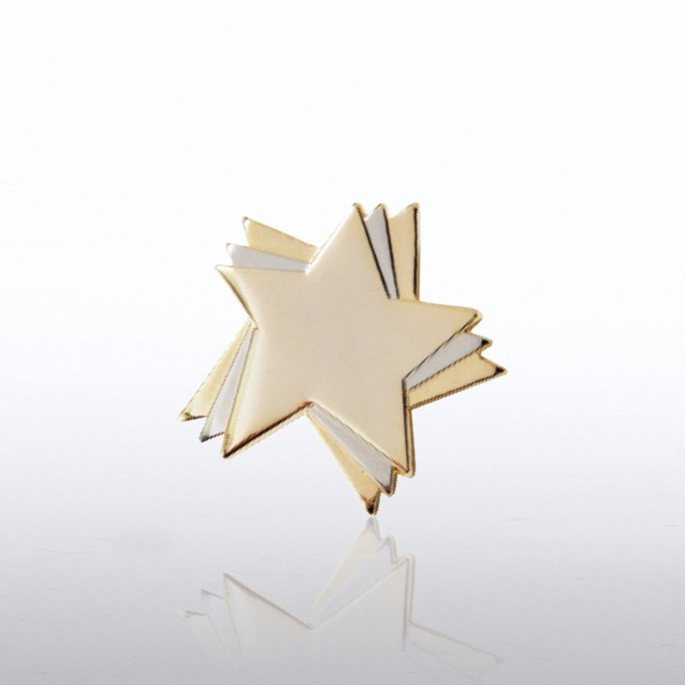 View larger image of Lapel Pin - Duo Tone Stars