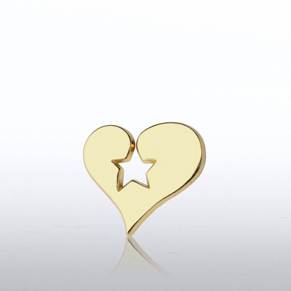 View larger image of Lapel Pin - Heart Stamped Star