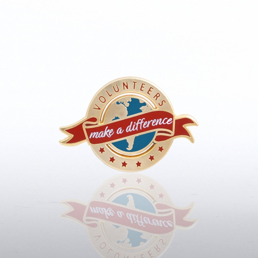 View larger image of Lapel Pin - Volunteers Make a Difference