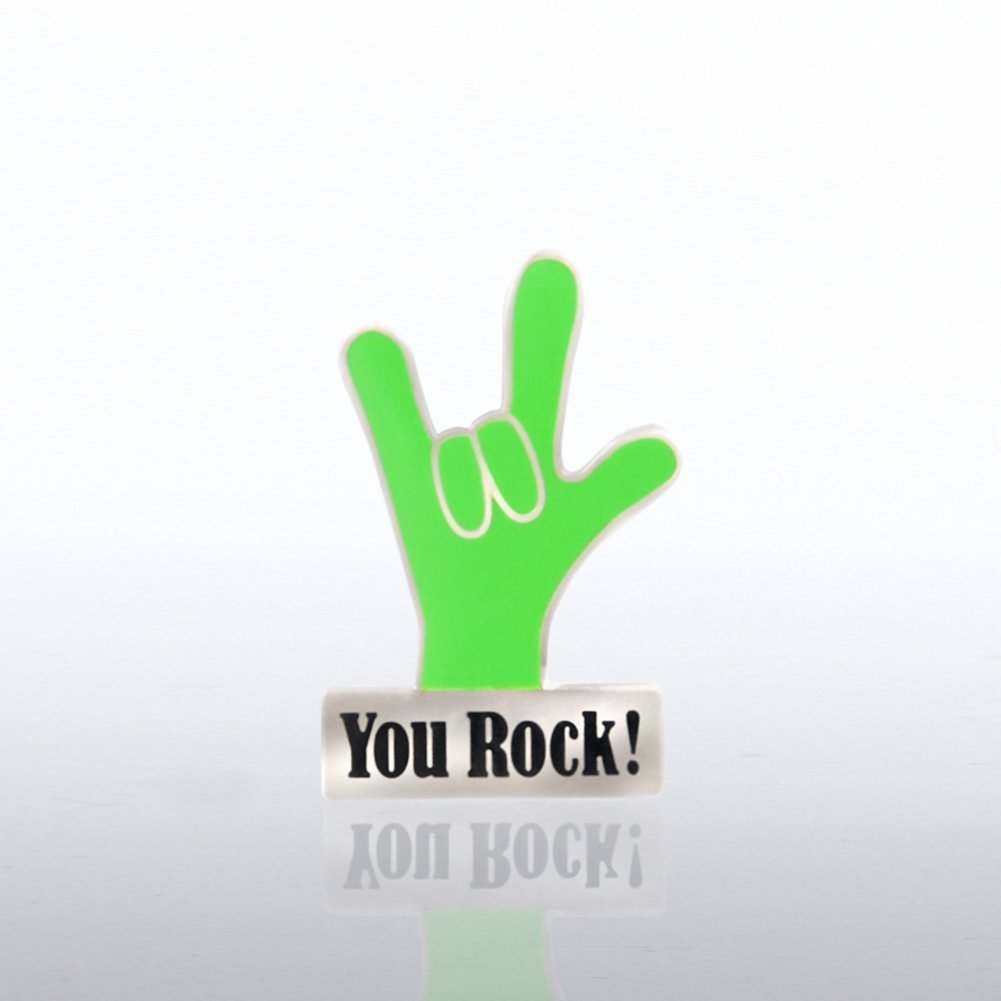 View larger image of Lapel Pin - You Rock Hand