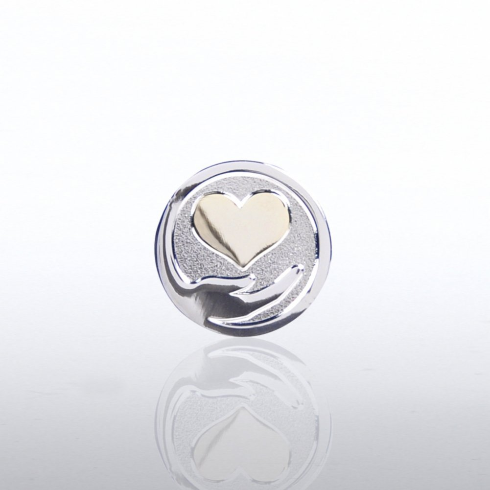 View larger image of Lapel Pin - Heart Hand
