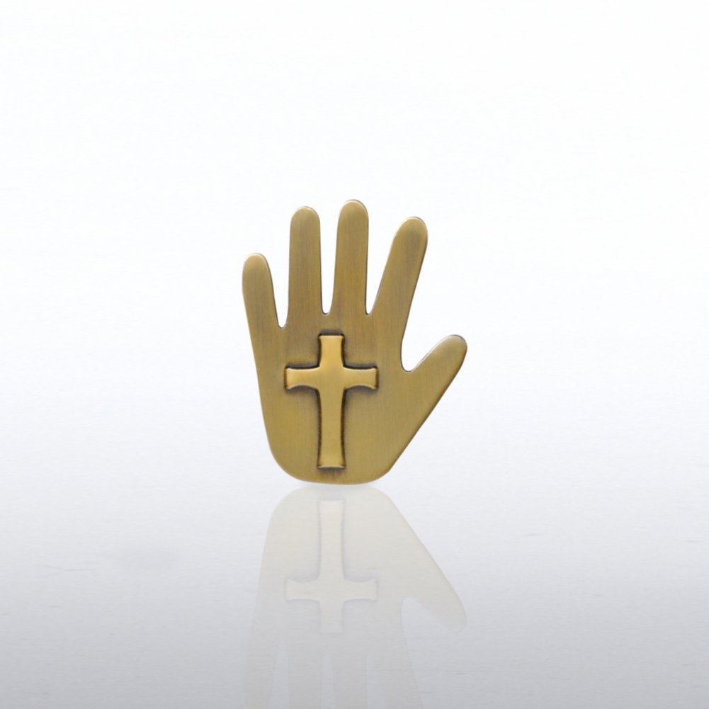 View larger image of Lapel Pin - Cross Hand