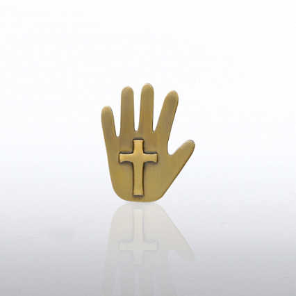 Lapel Pin - Cross Hand