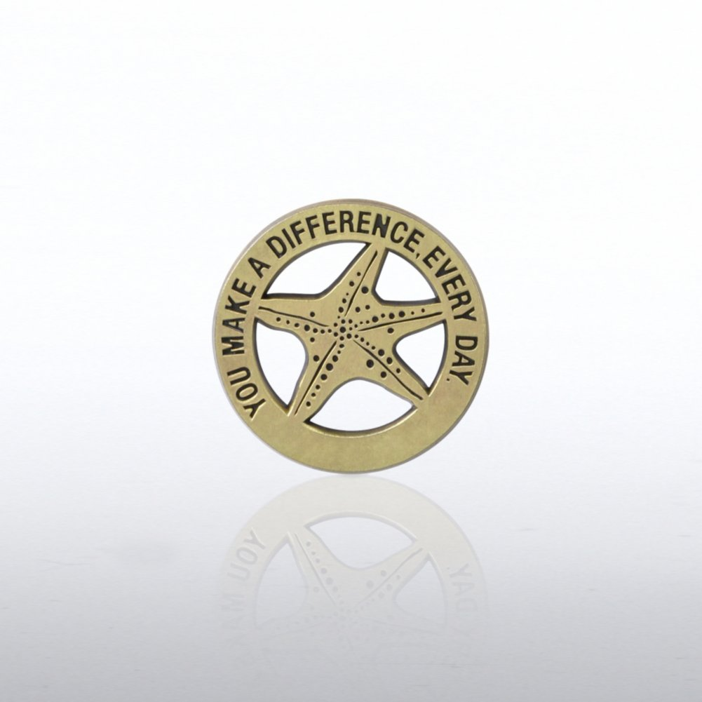 View larger image of Lapel Pin - Gold Starfish