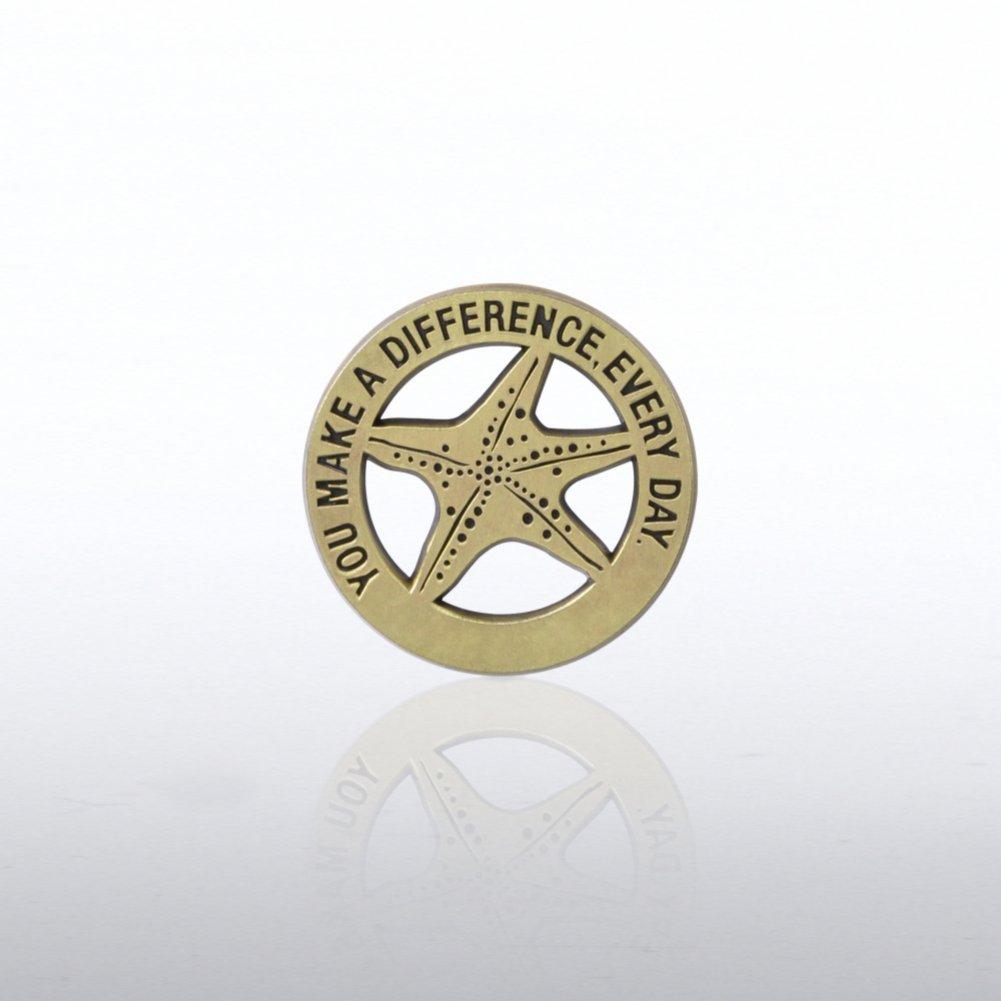 Lapel Pin - Gold Starfish