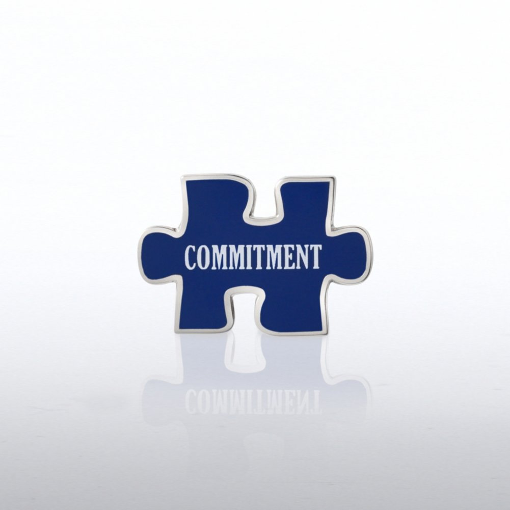 View larger image of Lapel Pin - Puzzle Commitment