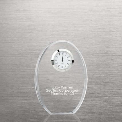 Classic Crystal Desktop Clock