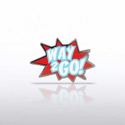 Lapel Pin - Way 2 Go! - Burst