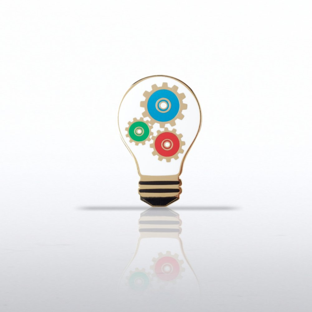 View larger image of Lapel Pin - Light Bulb with Gears