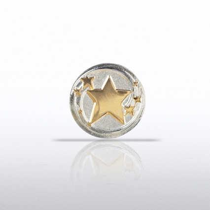 Lapel Pin - Shooting Stars Round