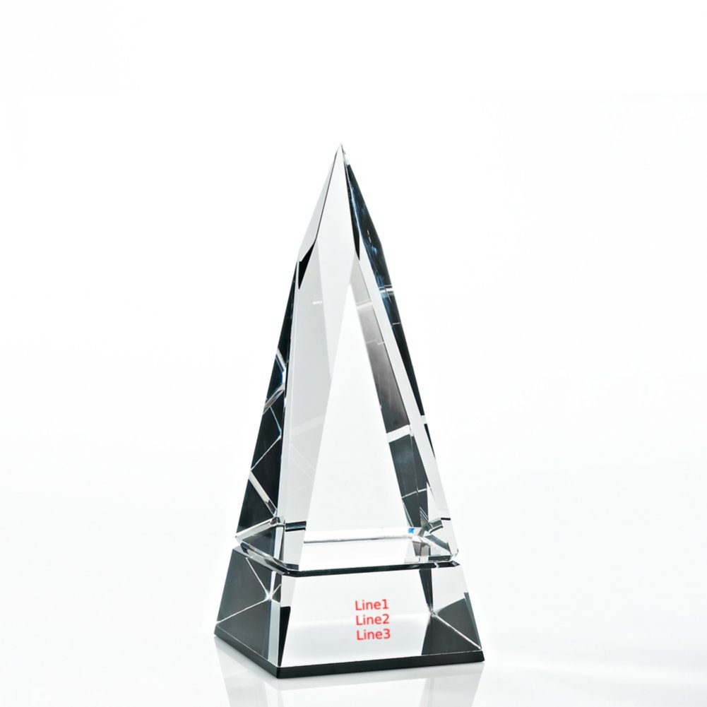 View larger image of Beveled Edge Crystal Black Accent Trophy - Tower