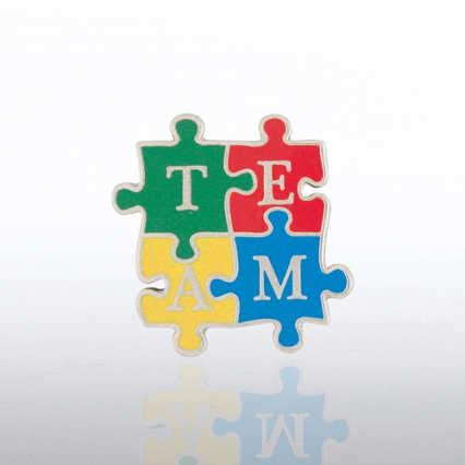 Lapel Pin - TEAM Puzzle Pieces - Bold