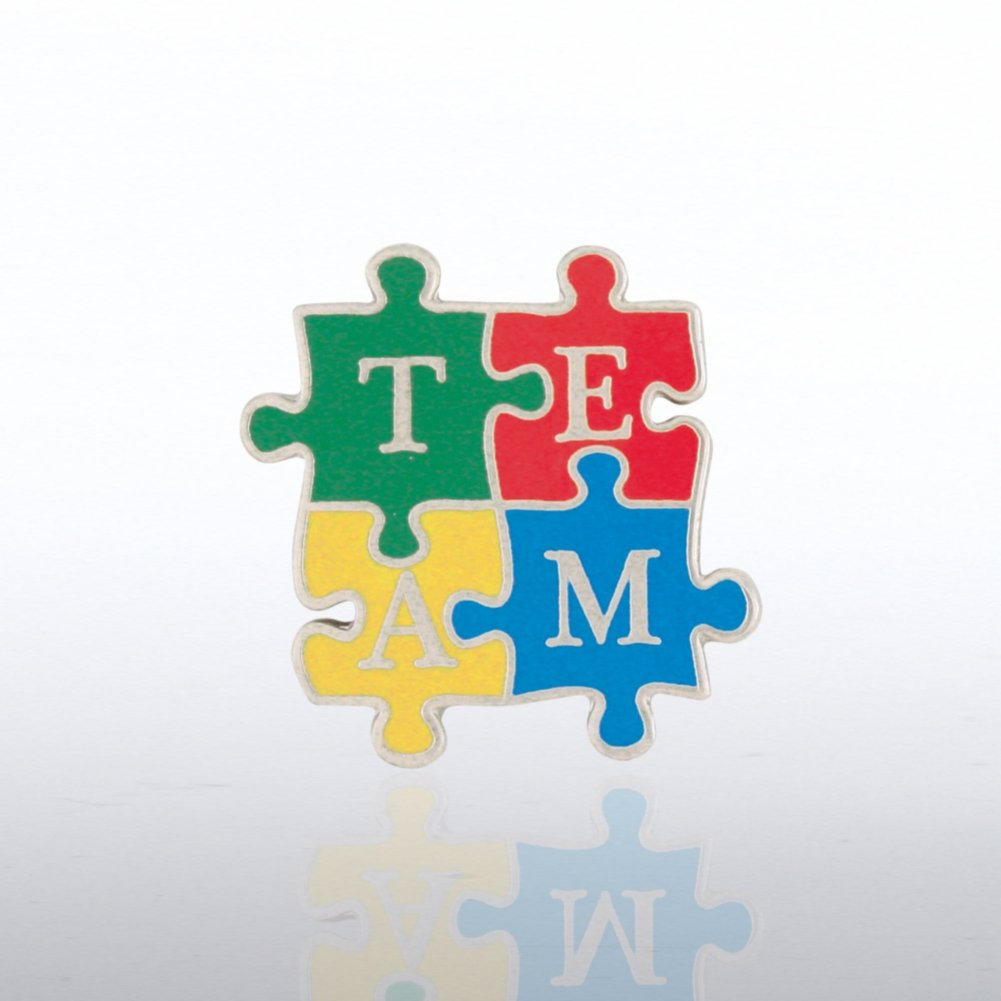 Lapel Pin - TEAM Puzzle Pieces - Bold