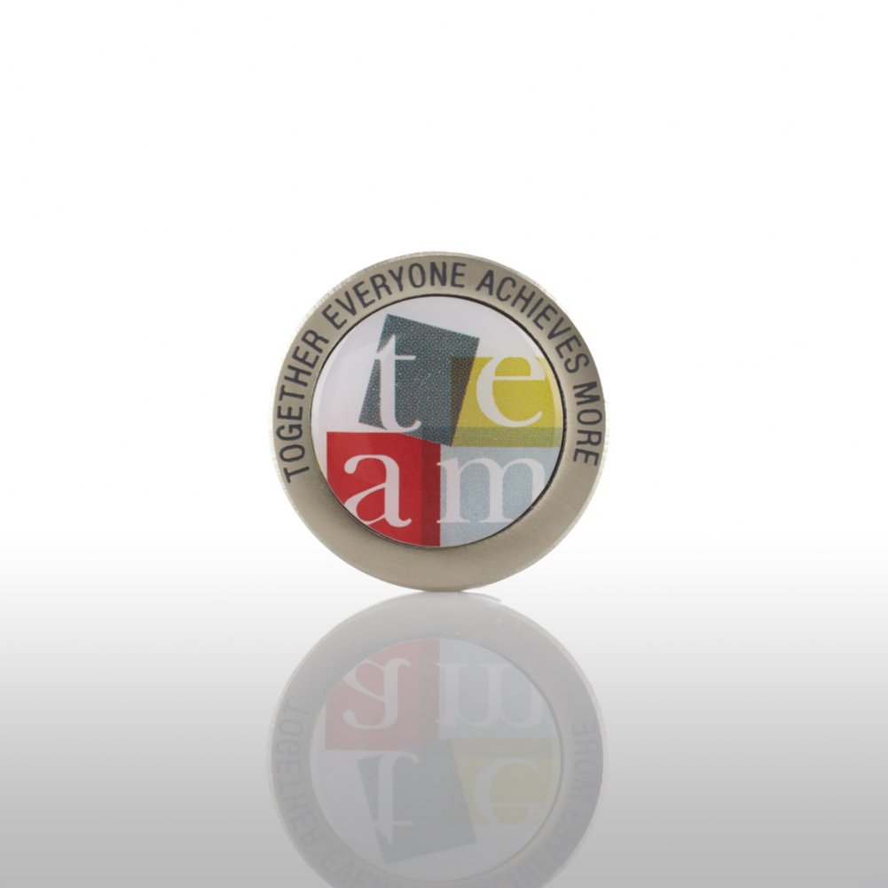 View larger image of Lapel Pin - TEAM: Together Everyone Achieves More - Round