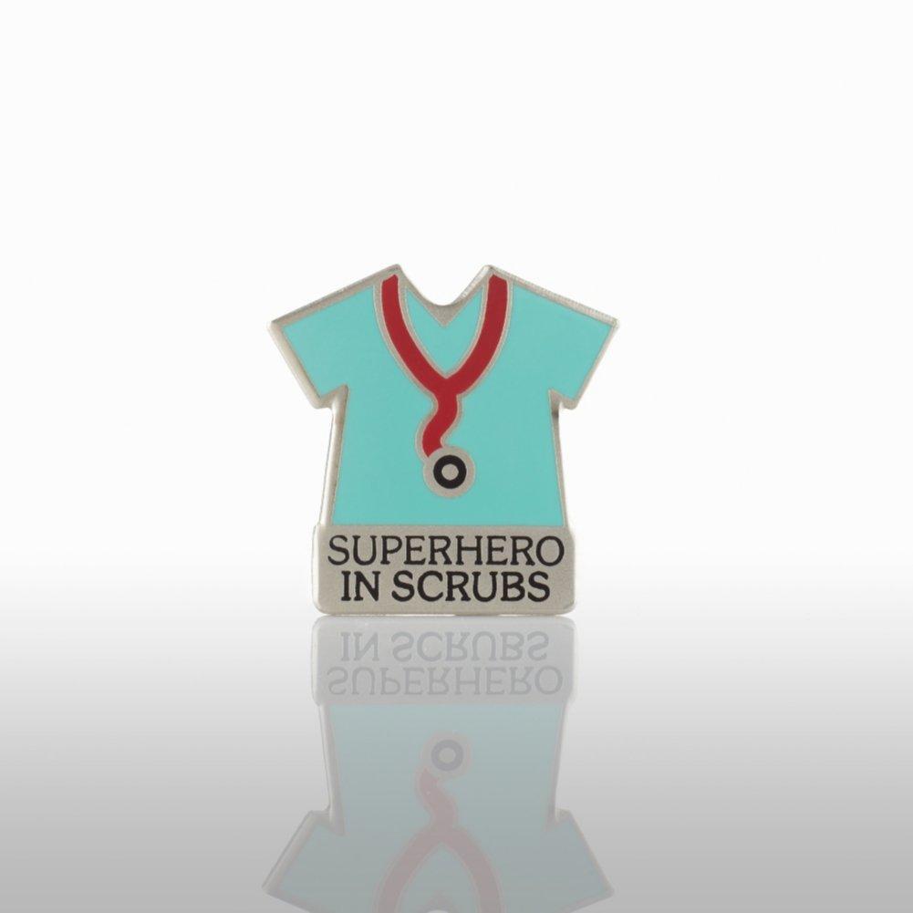 View larger image of Lapel Pin - Superhero in Scrubs