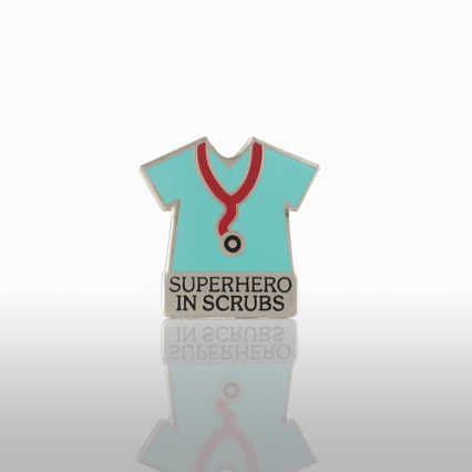 Lapel Pin - Superhero in Scrubs