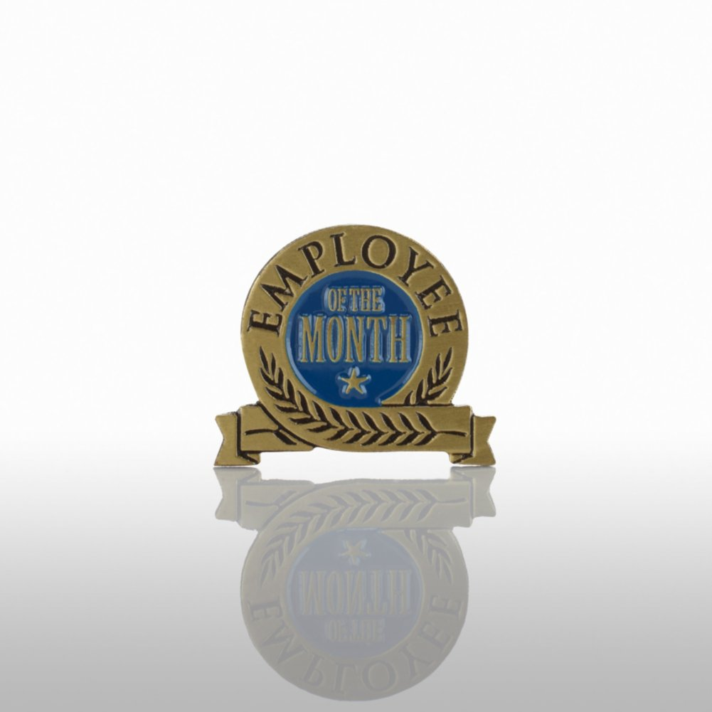 View larger image of Lapel Pin - Employee of the Month - Blue Laurel
