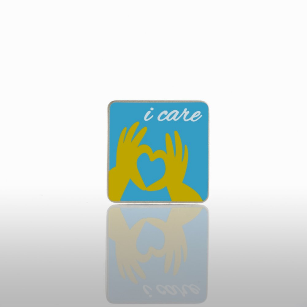 View larger image of Lapel Pin - I Care Hands