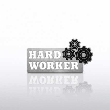 Lapel Pin - Gears - Hard Worker