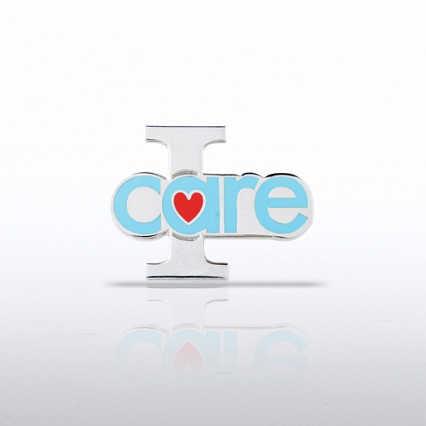 Lapel Pin - I Care - Heart