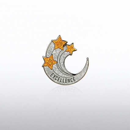 Lapel Pin - Excellence Glitter Shooting Stars