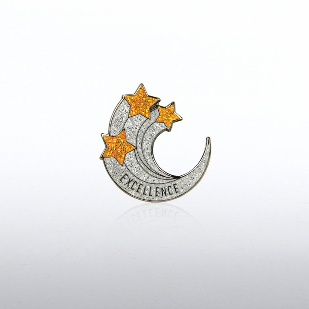 View larger image of Lapel Pin - Excellence Glitter Shooting Stars