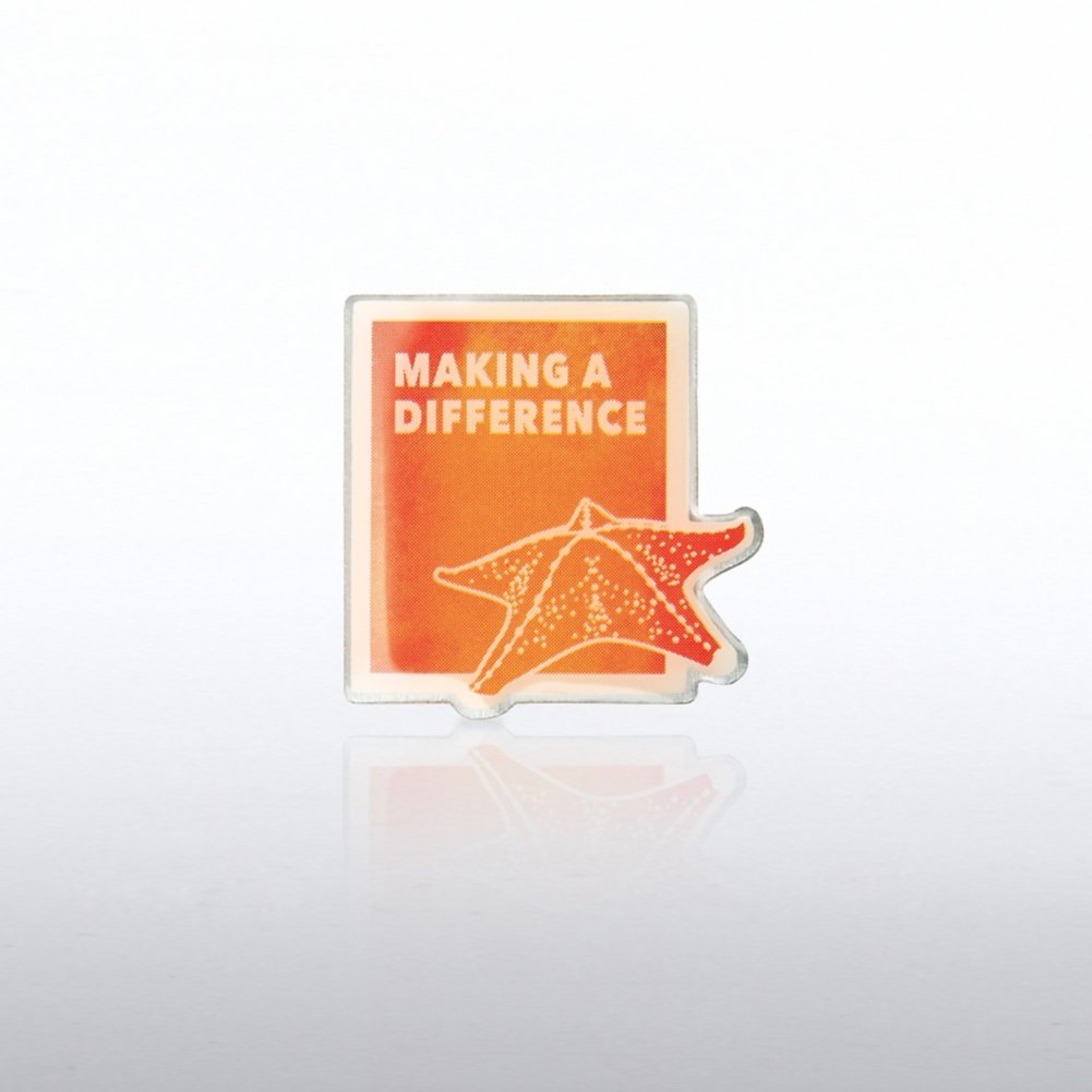 View larger image of Lapel Pin - Starfish: Making a Difference Watercolor