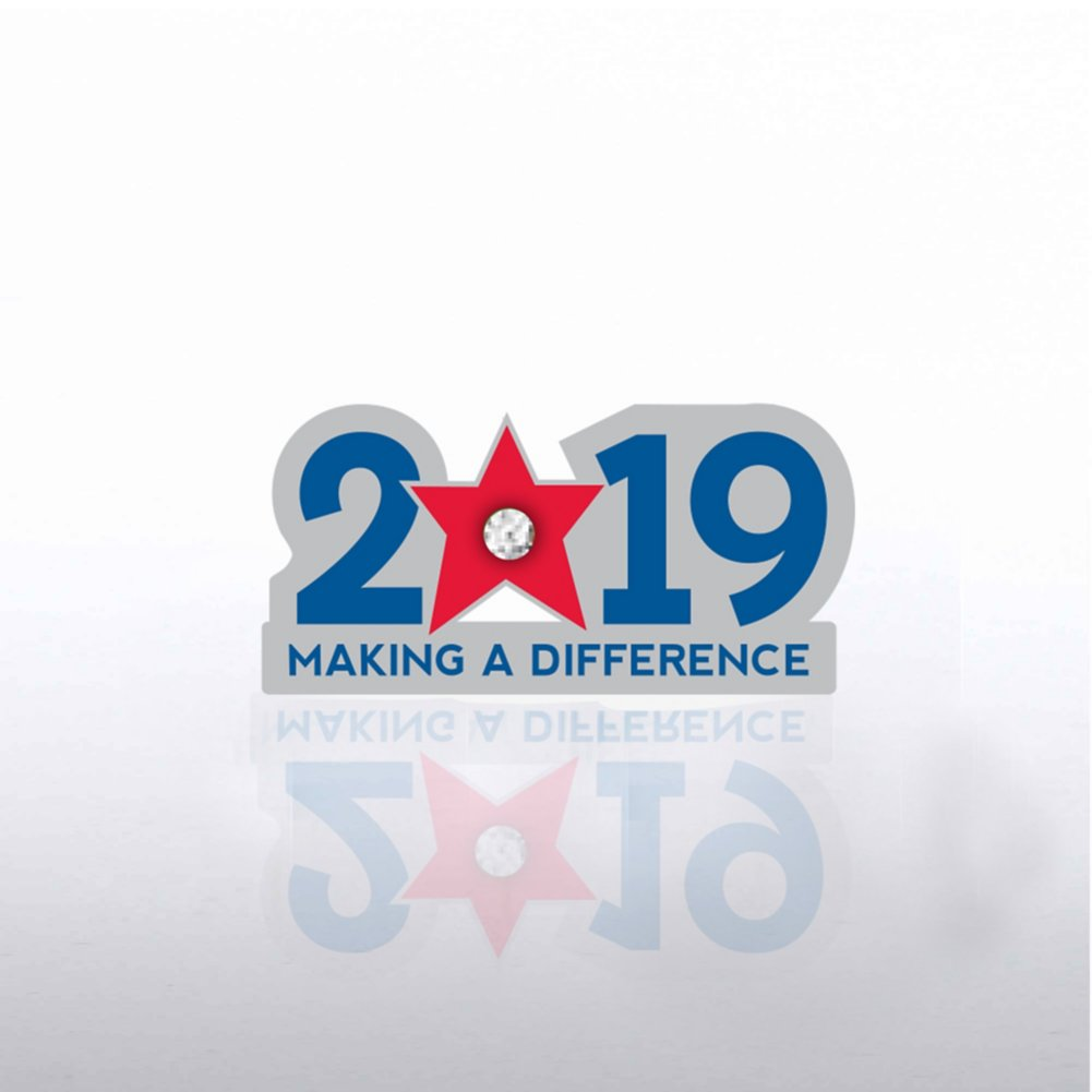 View larger image of Lapel Pin - 2019: Making a Difference with Gem