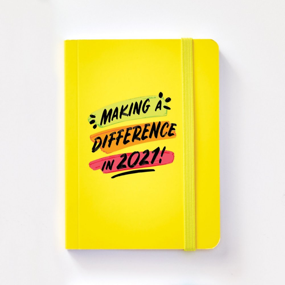 View larger image of Bright Side Neon Mini Journal - Making a Difference