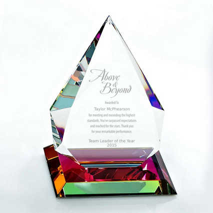 Vibrant Luminary Crystal Trophy Collection - Tear Drop