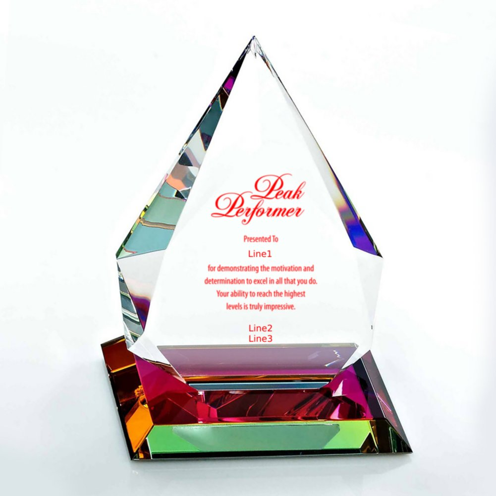 View larger image of Vibrant Luminary Crystal Trophy Collection - Tear Drop