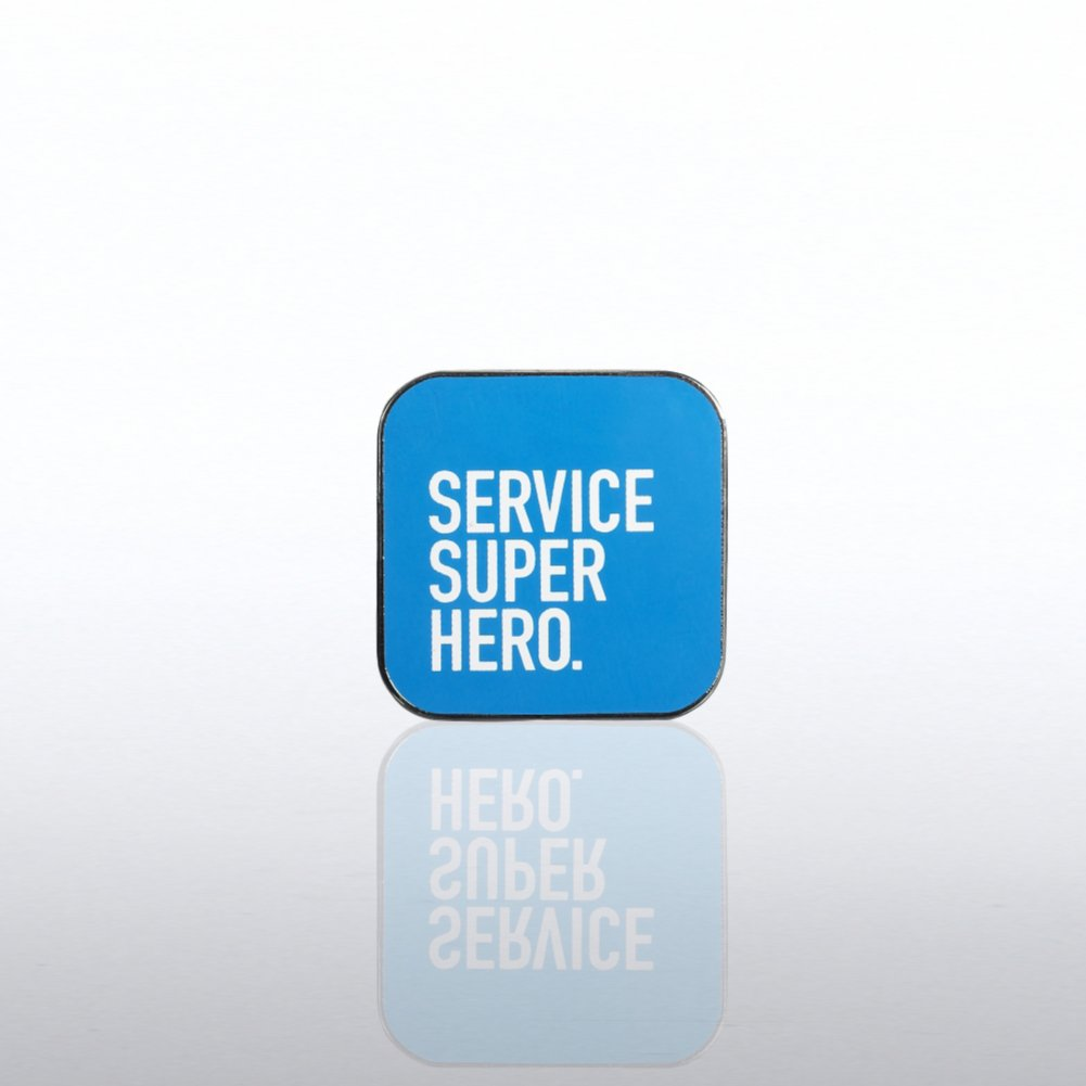 Lapel Pin - Customer Service - Service Super Hero