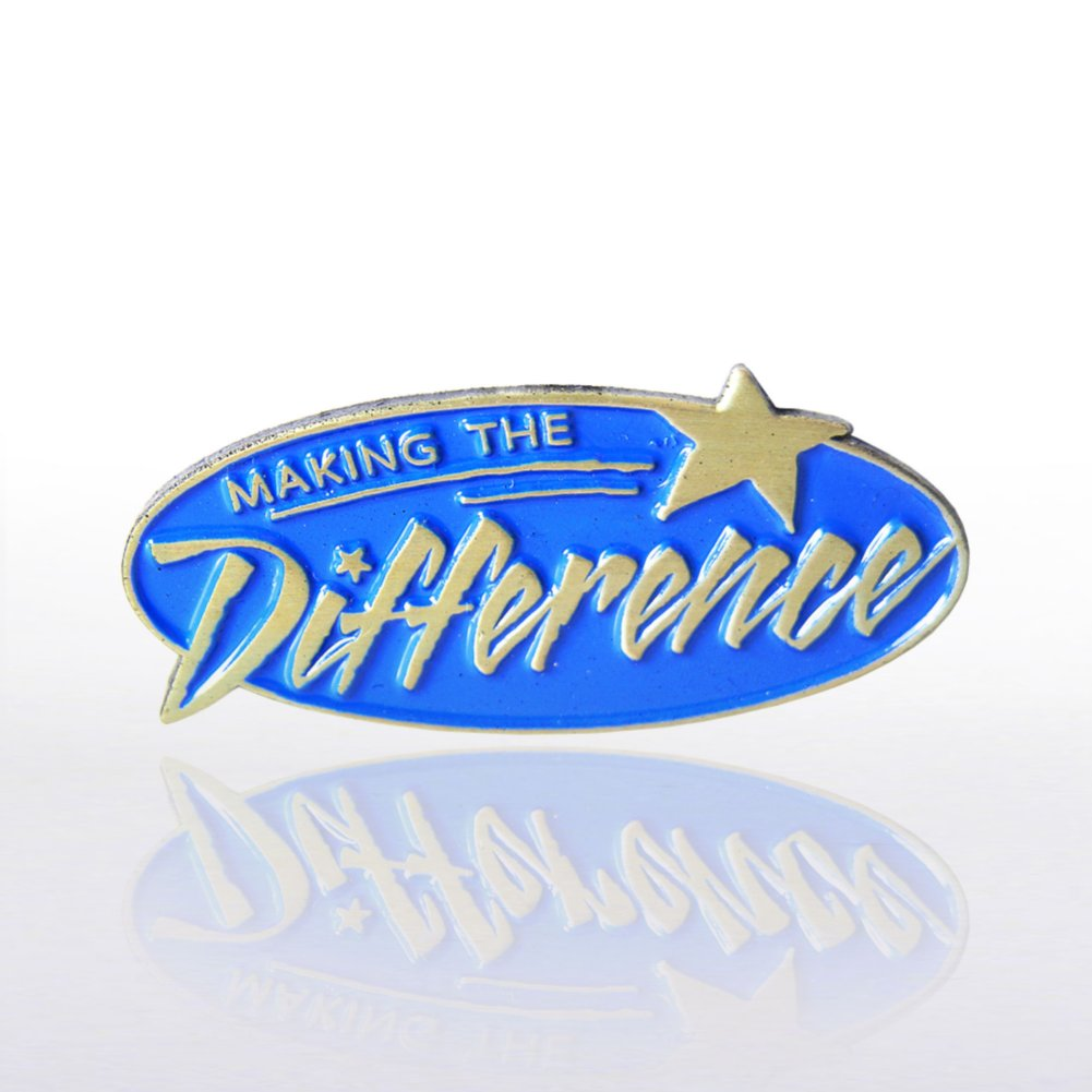 View larger image of Lapel Pin - Making the Difference Blue