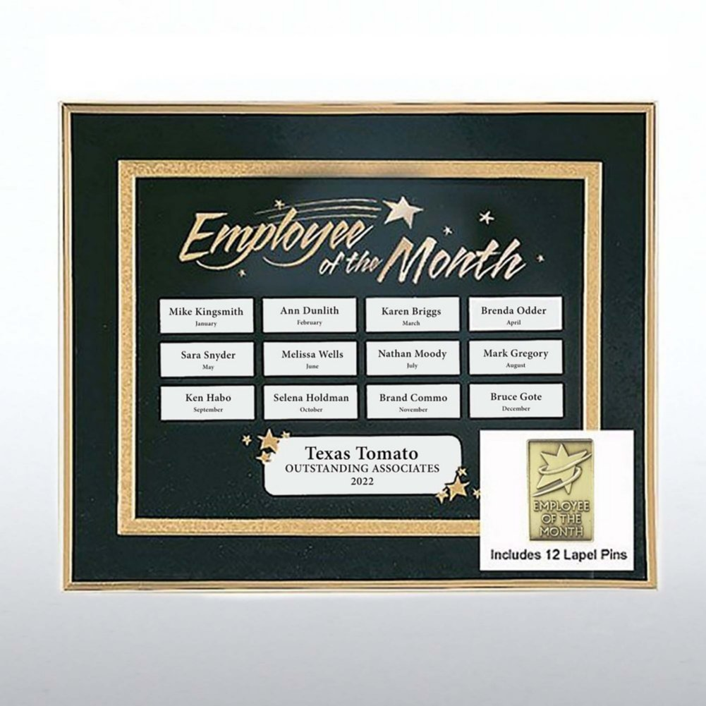 View larger image of Perpetual Recognition Program - Emp of the Month w/12 Pins