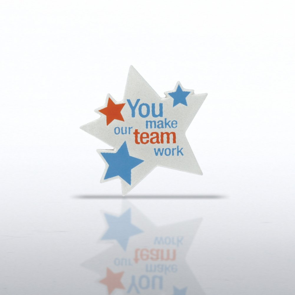 View larger image of Lapel Pin - You Make Our Team Work