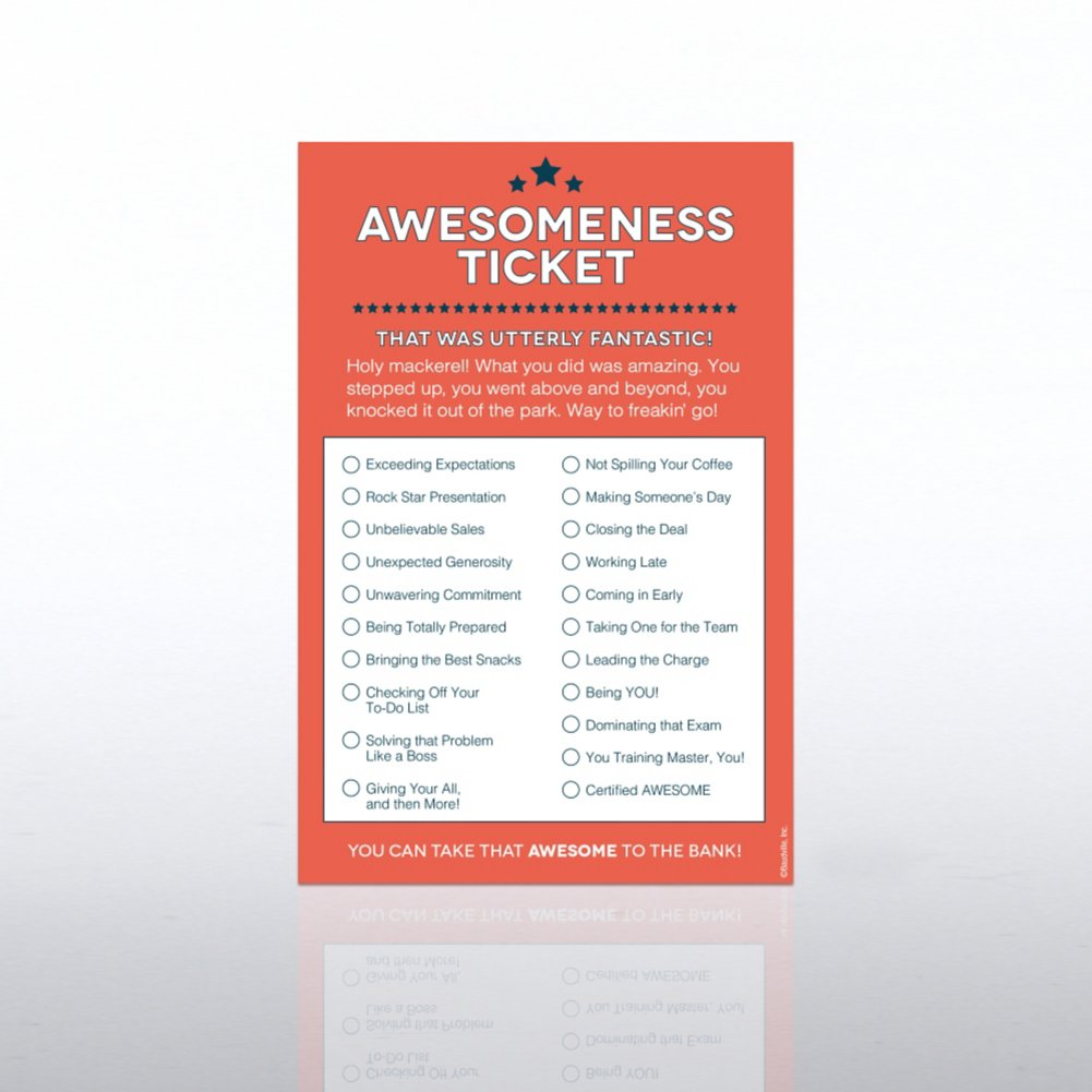 View larger image of Recognition Ticket Note Pad - Awesomeness