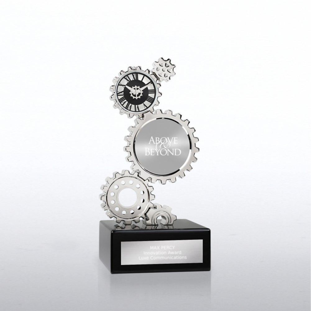 View larger image of Chrome Gear Award Clock