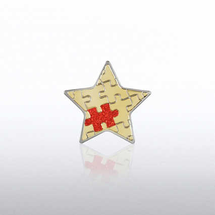 Lapel Pin -  Essential Piece Glitter Star