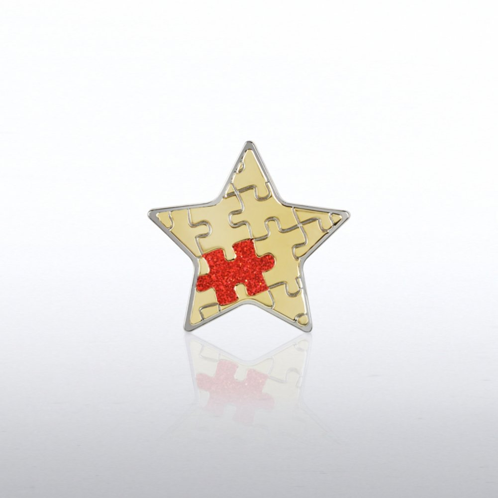 View larger image of Lapel Pin -  Essential Piece Glitter Star