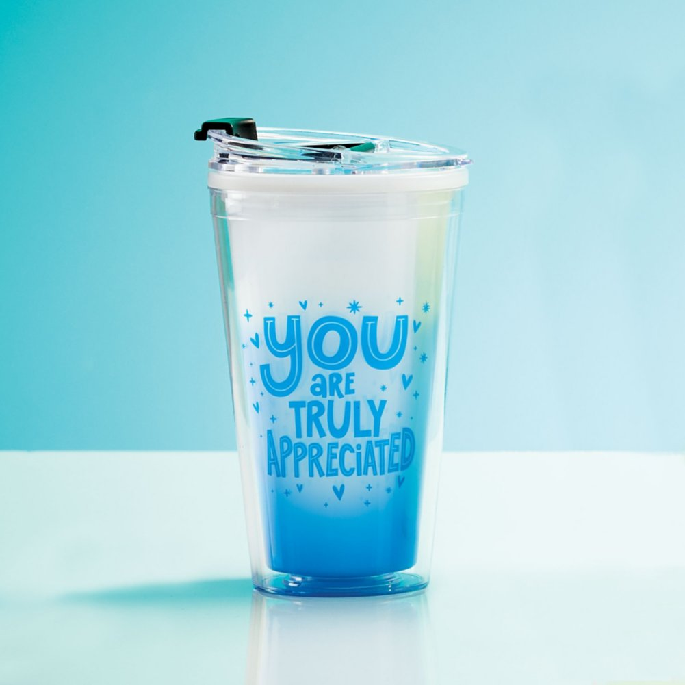 View larger image of Vibrant Color Changing Travel Tumbler - Truly Appreciated