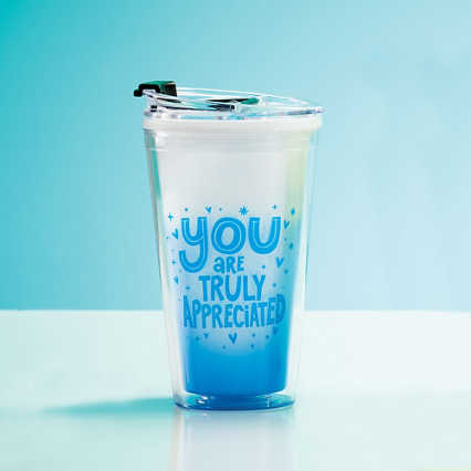 Vibrant Color Changing Travel Tumbler - Truly Appreciated