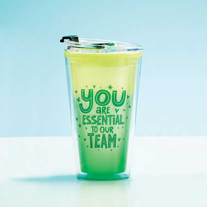 Vibrant Color Changing Travel Tumbler - Essential To Our Team