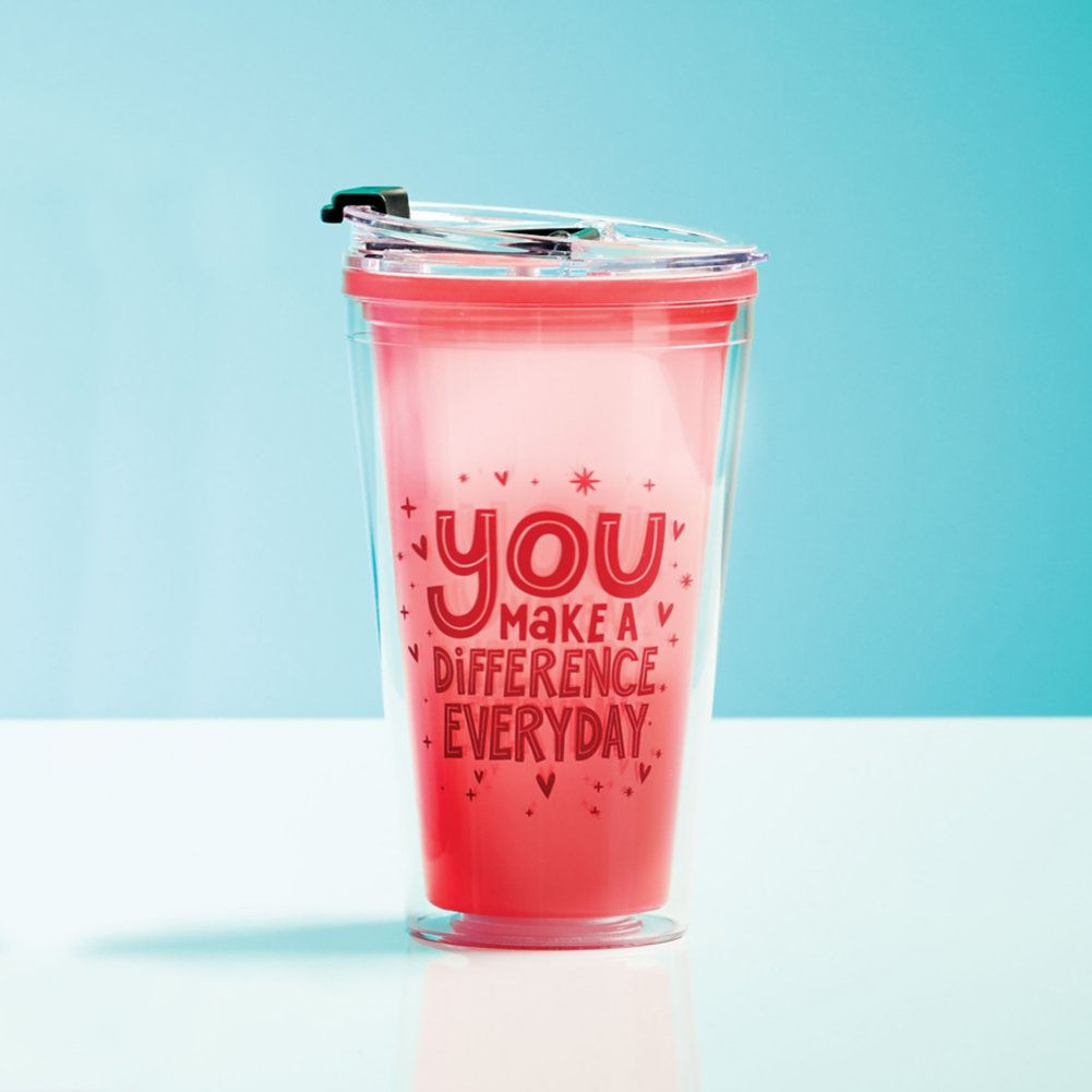 View larger image of Vibrant Color Changing Travel Tumbler - Difference Everyday