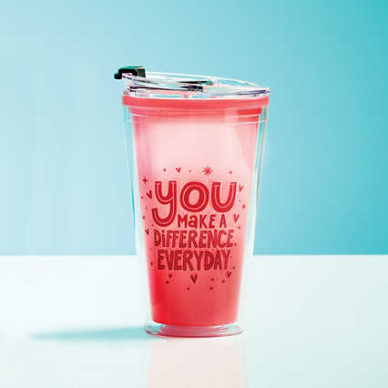 Vibrant Color Changing Travel Tumbler - Difference Everyday