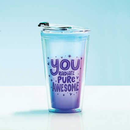 Vibrant Color Changing Travel Tumbler - Pure Awesome