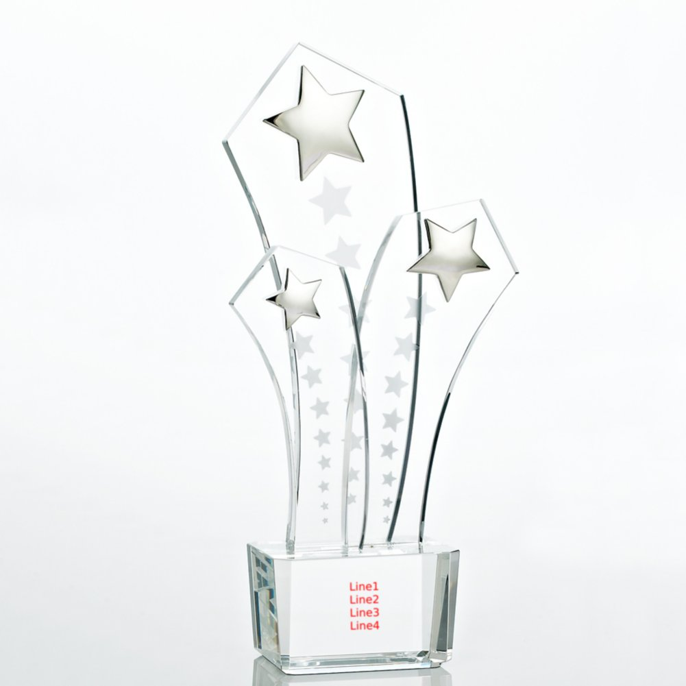 View larger image of Shooting Star Trio Crystal Trophy