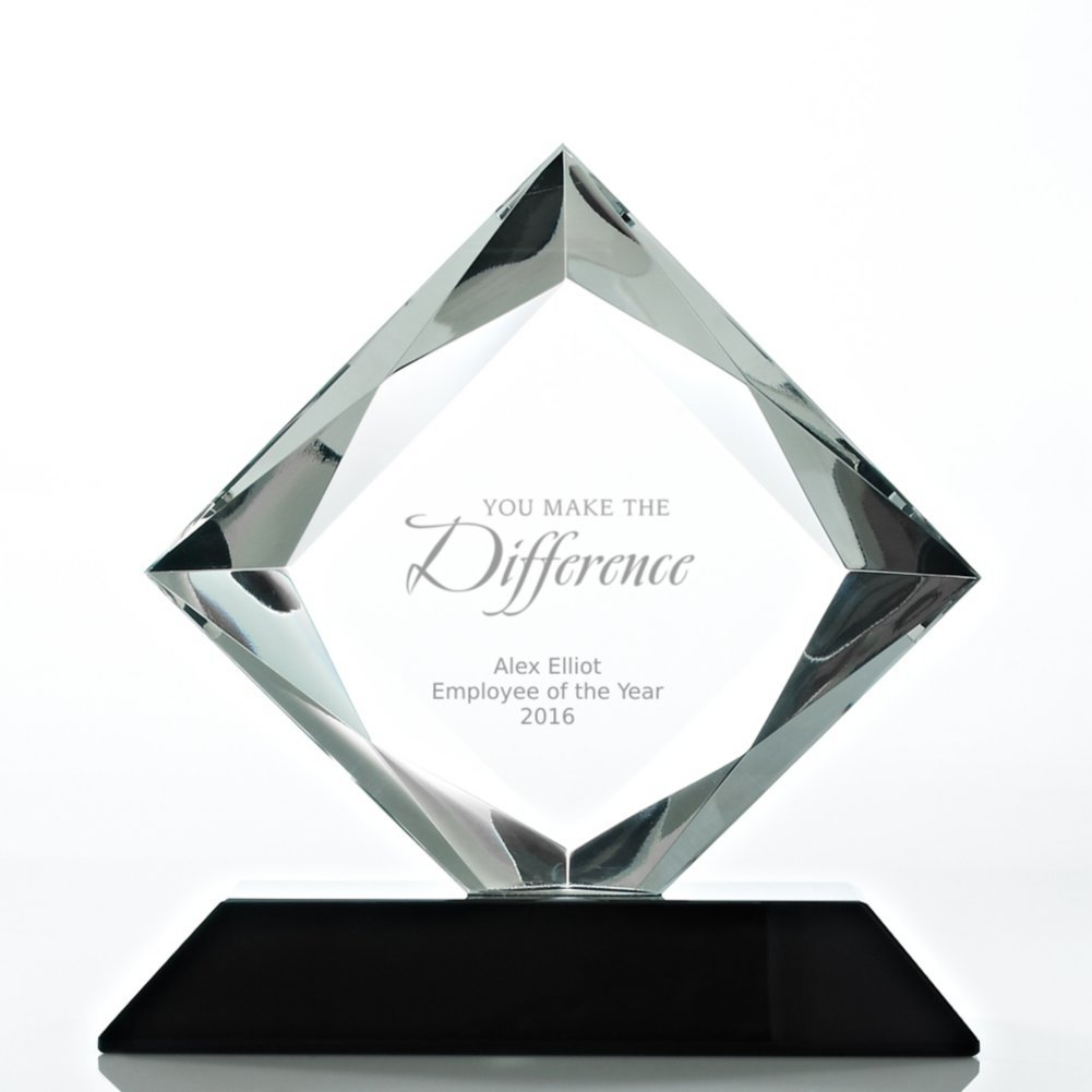View larger image of Beveled Diamond Crystal Award- Square Diamond