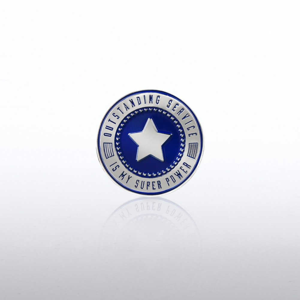 Lapel Pin - Outstanding Service is My Super Power